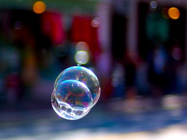 fönsterfilm och bubblor